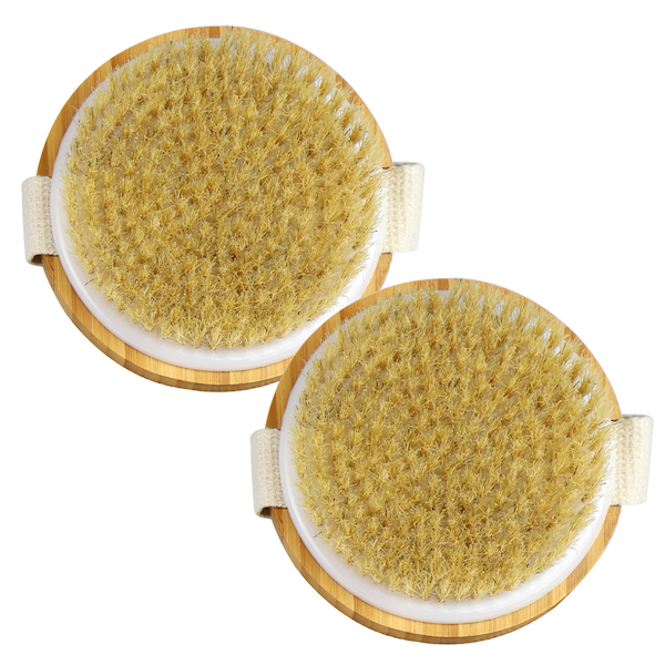 Set of 2 Bamboo Body Brushes | M&W New