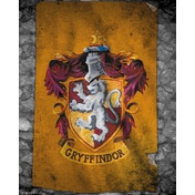 Harry Potter Gryffindor Flag Mini Poster