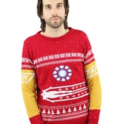 Marvel Official Iron Man Christmas Jumper - Large