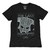 The Elder Scrolls - Skyrim Last Dragonborn Male Medium T-Shirt - Black