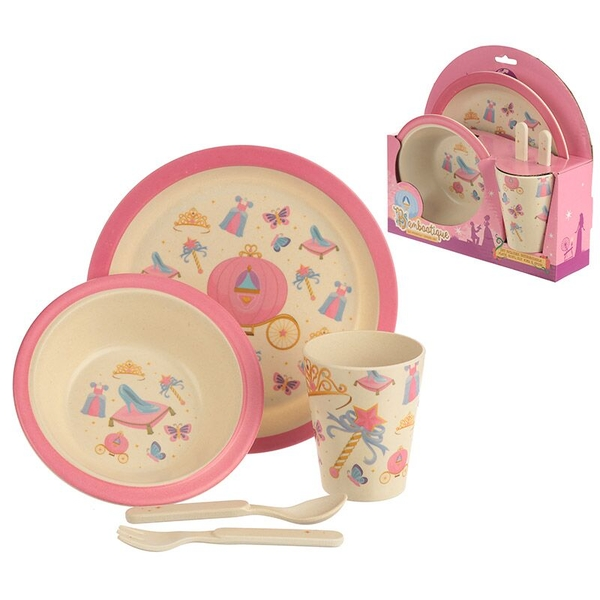 Bambootique Eco Friendly Princess Design Kids Dinner Set