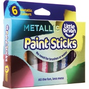 Little Brian Paint Sticks Metallic Colours - 6 assorted