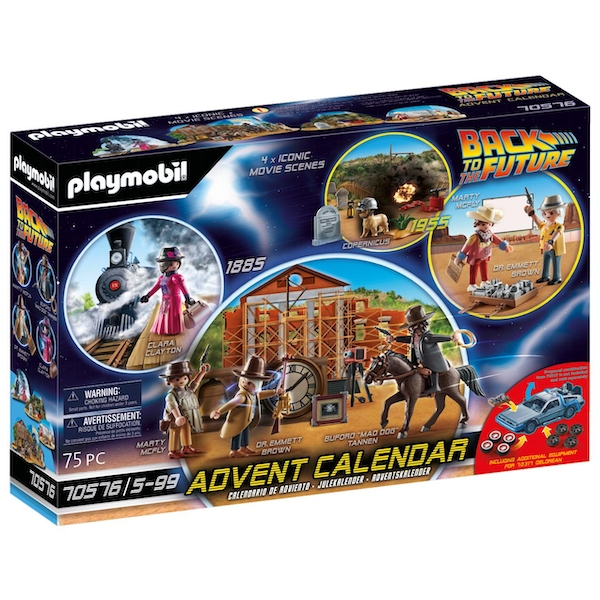 Playmobil 70576 Back to the Future Part 3 Advent Calendar