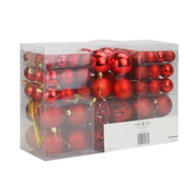 100pc Baubles Pack | M&W Red