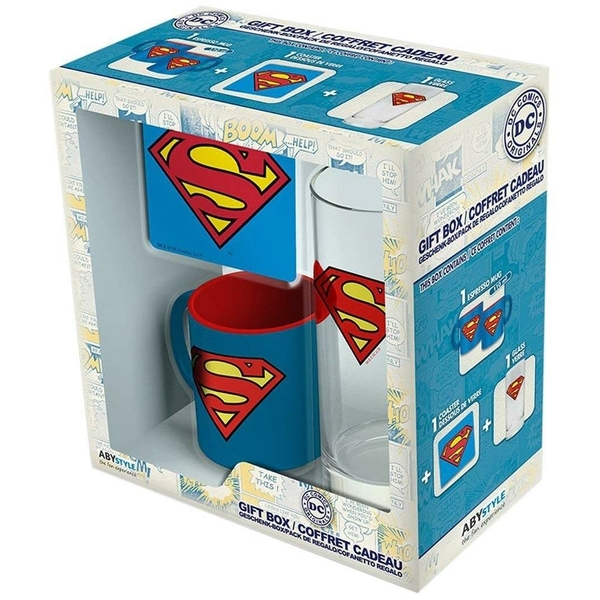 Dc Comics - Glass 29cl + Coaster + Mini Mug Superman Gift Box