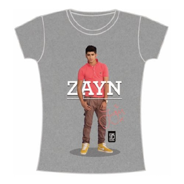 One Direction - Zayn Standing Pose Women's Large T-Shirt - Grey