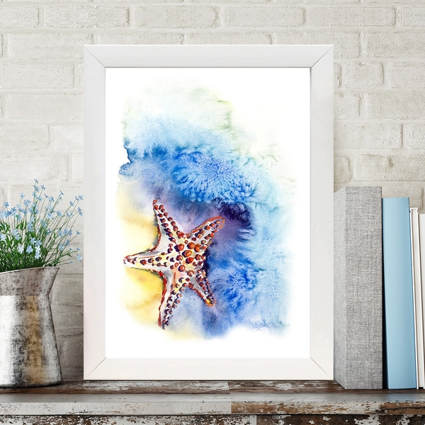 BC640323790 Multicolor Decorative Framed MDF Painting