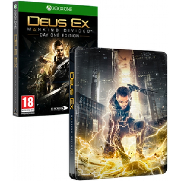 Deus Ex Mankind Divided Day One Edition Steelbook Xbox One Game - Image 1