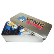 Sonic the Hedgehog 3 Pack Socks in Tin (Blue)