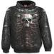 Death Ribs Allover Men's Small Hoodie - Black - Image 2