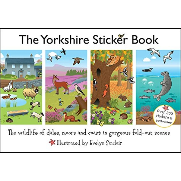 The Yorkshire Sticker Book: The Wildlife of Dales, Moors and Coast in Gorgeous Fold-Out Scenes by Jake Island Ltd (Paperback, 2016)