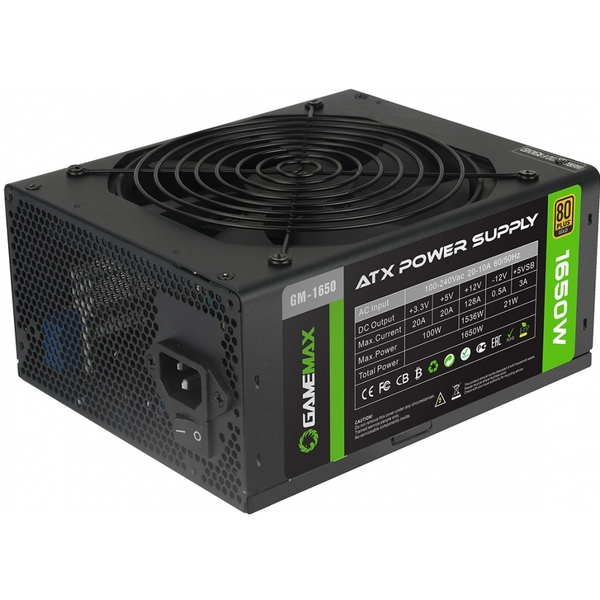game max gm 1650w mining 80 plus gold psu 14cm fan