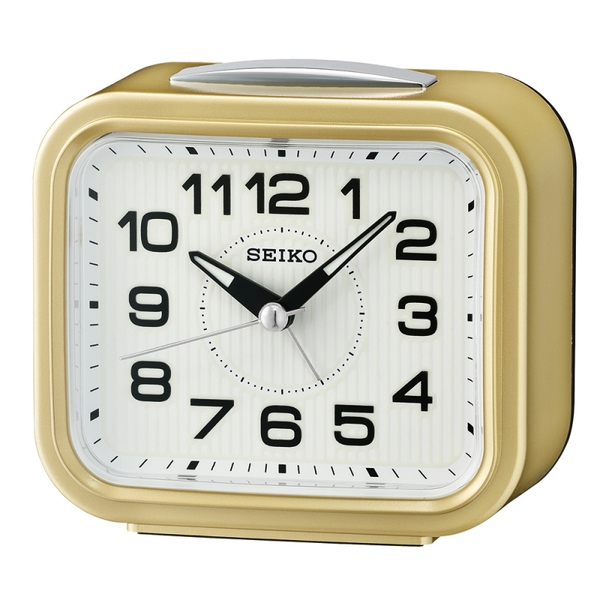 Seiko QHK050G Bell Alarm Clock with Snooze - Metallic Gold