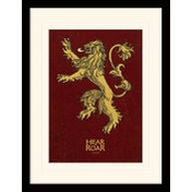 Game of Thrones - Lannister Mounted & Framed 30 x 40cm Print