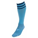 PT 3 Stripe Pro Football Socks Mens Sky/Navy