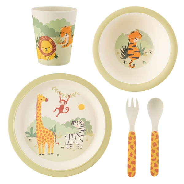 Sass & Belle Savannah Safari Bamboo Tableware Set