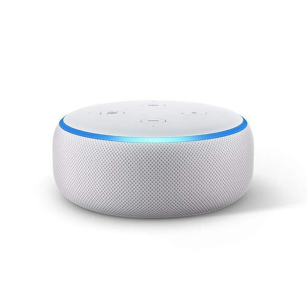Amazon Echo Dot (3rd Gen) - Smart speaker with Alexa - Sandstone Fabric UK Plug