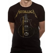 Metallica Hetfield Iron Cross Unisex Large T-Shirt - Black