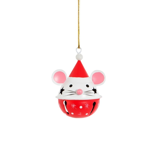 Sass & Belle Mouse Hanging Bell Decoration