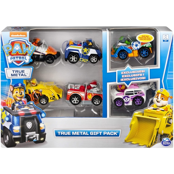 Paw Patrol - True Metal Classic Gift Pack of 6 Collectible Die-Cast Vehicles -  1:55 Scale