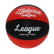 Midwest League Basketball Black/Red - Size 7