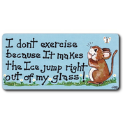 I Don't Exercise Smiley Magnet Pack Of 12