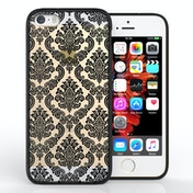 YouSave Accessories iPhone 5 / SE TPU Hard Case - Damask Black