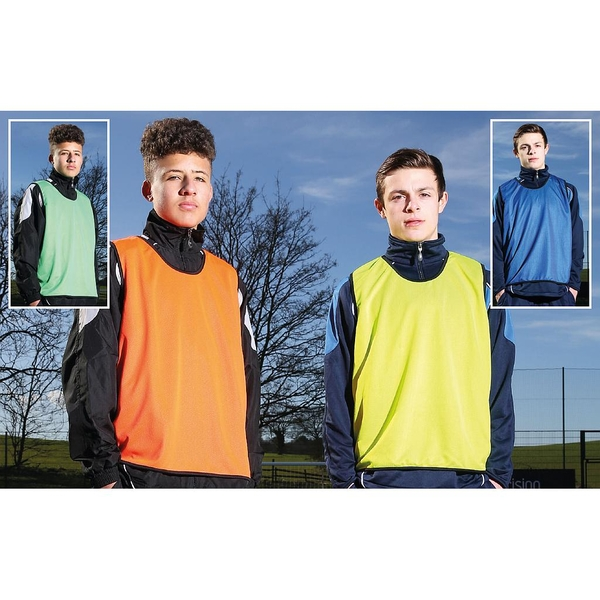Reversible Mesh Training Bib Orange/Green - Youths