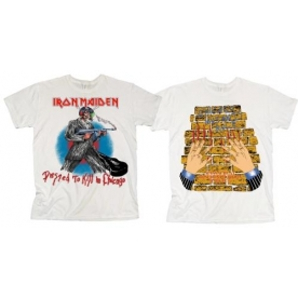 Iron Maiden Chicago Mutants Mens White T Shirt: XXL