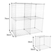 4 Cube Wire Storage Shelves | Pukkr White - Image 6