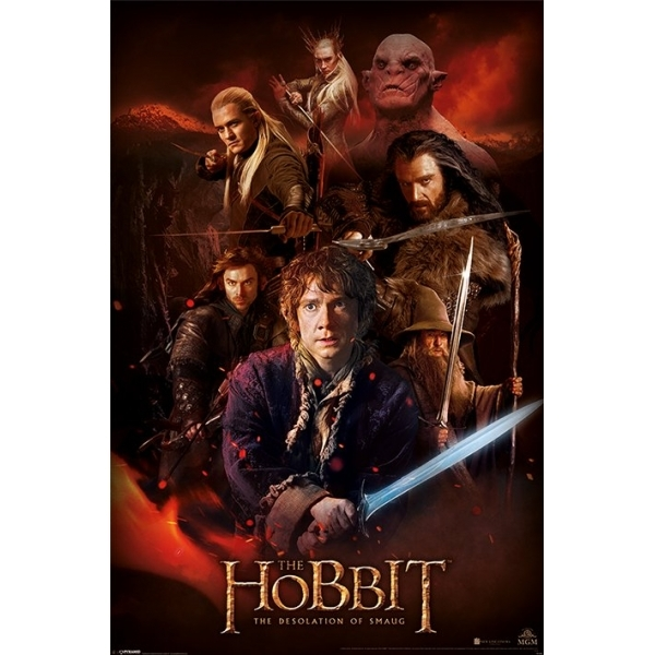 The Hobbit Dos Fire Montage Maxi Poster