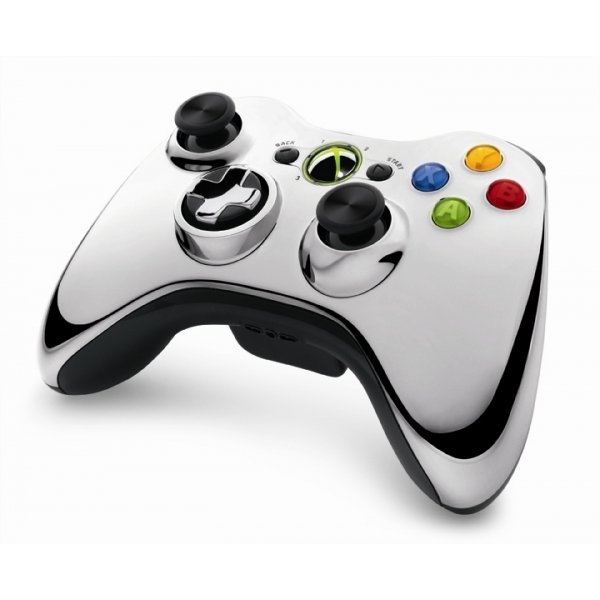 Official Microsoft Silver Chrome Wireless Controller Xbox 360 - Image 2