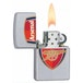 Zippo Arsenal FC Satin Chrome Windproof Lighter - Image 2