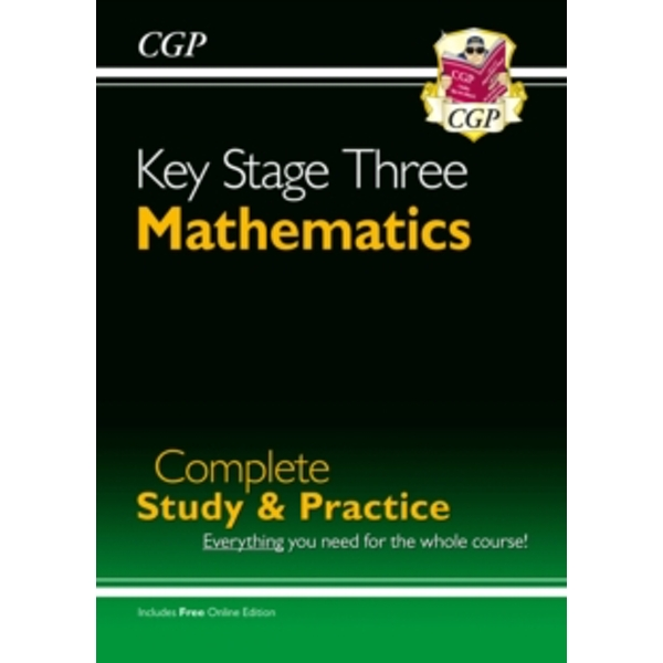 New KS3 Maths Complete Study & Practice (with Online Edition) by CGP Books (Paperback, 2004)