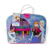 Disney Frozen My Colouring Suitcase with 32 Piece Creative Set - Pink/Blue