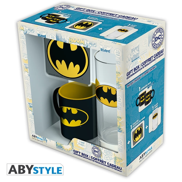 DC Comics - Batman Glass/Coaster/Mini Mug Gift Set