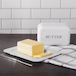 Butter Dish with Lid M&W White - Image 2