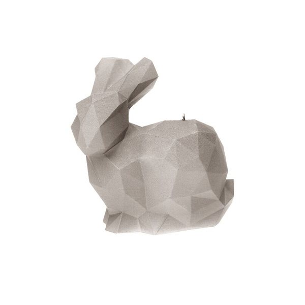 Gray Large Rabbit Candle