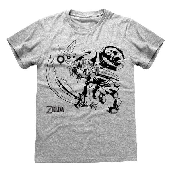 Legend Of Zelda - Link And Navi Unisex XX-Large T-Shirt - Grey