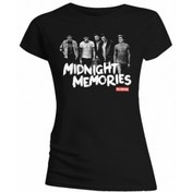 One Direction Midnight Memories Black T Shirt X Large