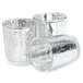 Set of 12 Speckled Tealight Candle Holders | M&W Silver - Image 3