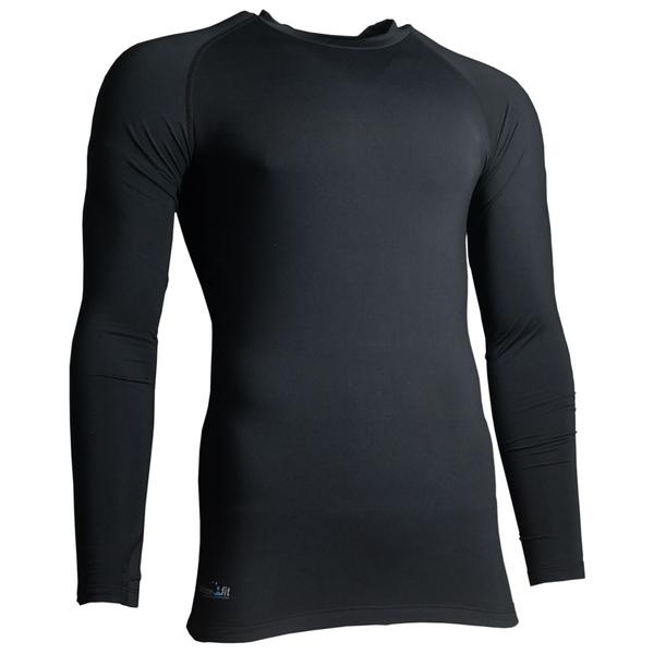 Precision Essential Base-Layer Long Sleeve Shirt Adult Black - Small 34-36 Inch