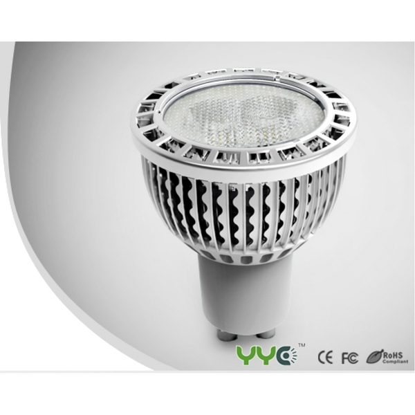 YYC LED GU10 3.5W silver clear Warm White 245 lumens
