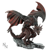 Golnar Chained Red Dragon All Alator Dragons 23cm Statue