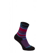 Bridgedale Children's Merinofusion Hiker Socks Purple and Black Extra Large