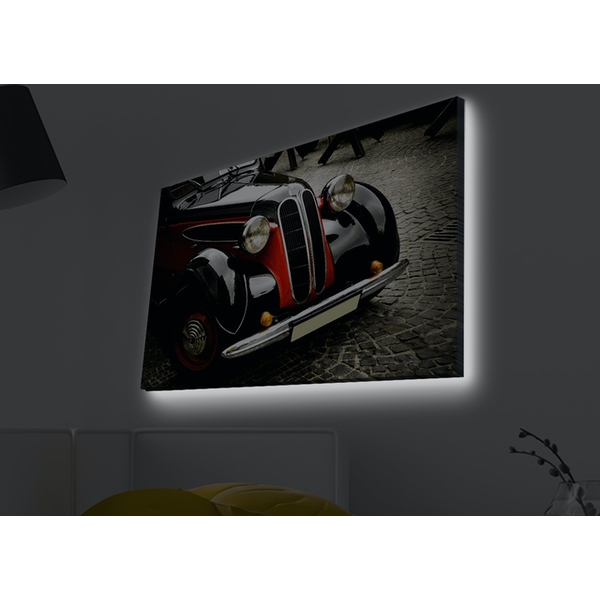 4570MDACT-043 Multicolor Decorative Led Lighted Canvas Painting