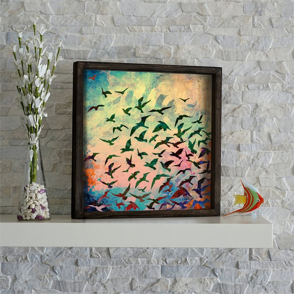 KZM530 Multicolor Decorative Framed MDF Painting