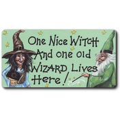One Nice Witch And One Old Wizard Smiley Magnet Pack Of 12