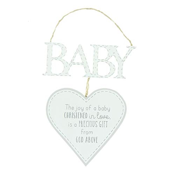 Petit Cheri Christening Heart Plaque