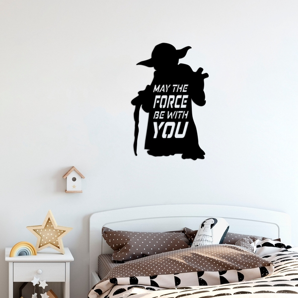 May The Force Be With You Black Decorative Metal Wall Accessory
